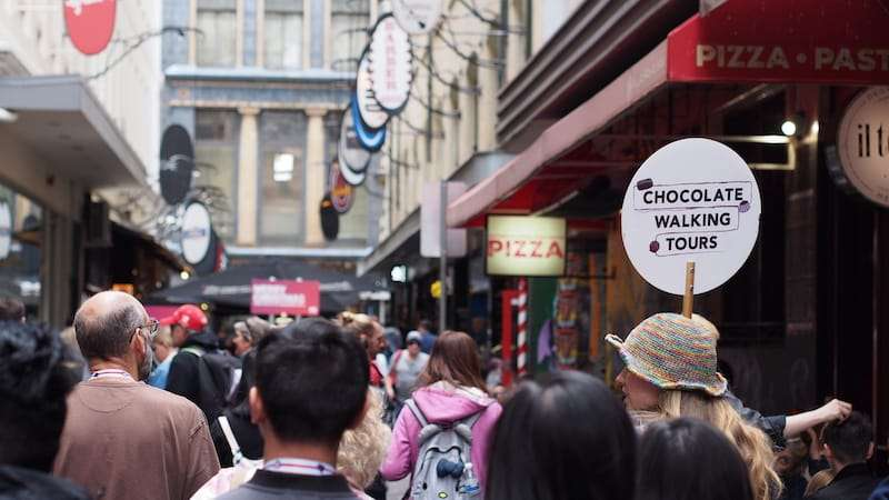 Melbourne City Sightseeing Private Twilight Chocolate Walking Tour